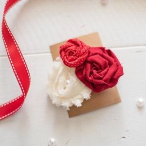 Other - Red & Cream Rosette Bow